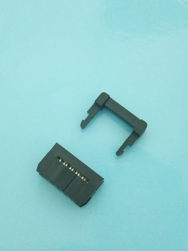 Black Color 2.0mm Pitch IDC connector 10 Pin Crimp Style With Ribbon Cable